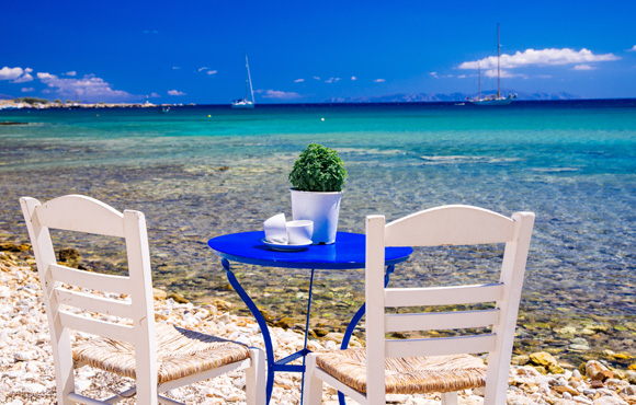 Coffee break at Paros