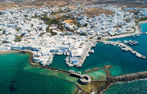 Greek island village