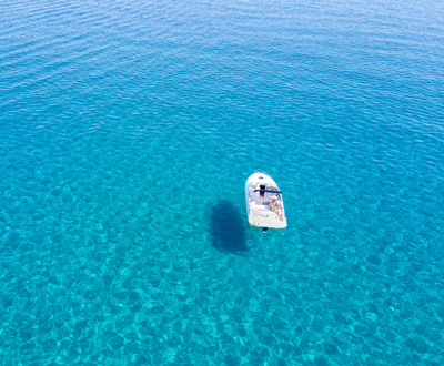 A boat in greek sea